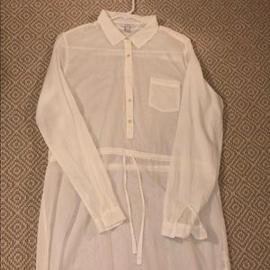 J Crew sheer cover up